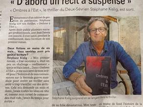 """Article de presse de Stéphane KISLIG : """"Ombres à l'Est'"""