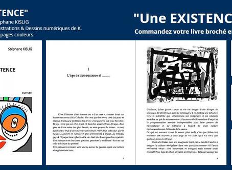 Roman & Livre : Une EXISTENCE de Stéphane KISLIG