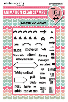 Move Me -  Clear Stamp Set - W