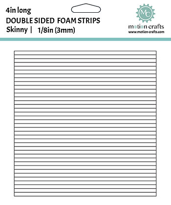 Pack of 5 - Double Sided Foam Tape Strips - Skinny 1/8 inch x 4in
