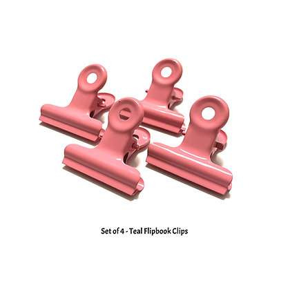 Pink Flipbook Clips - W