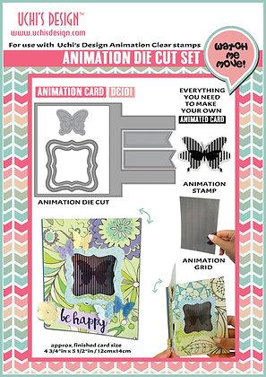 Animation Die Cut  Animation Card  DC101
