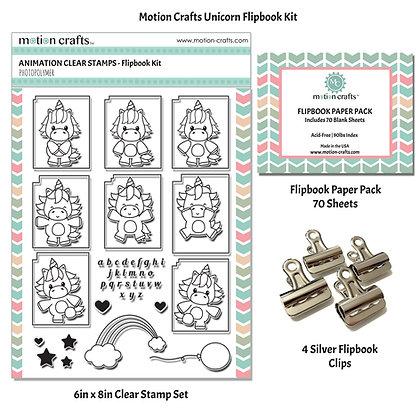 Unicorn Flipbook Kit - W
