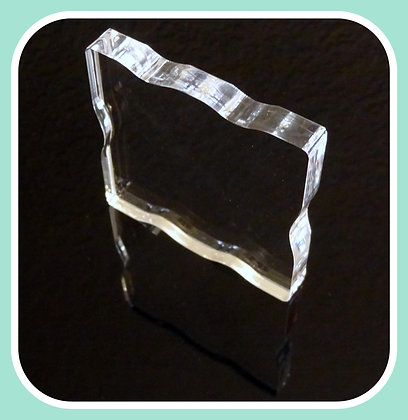"B05 Square Acrylic Block 3""x3"" w/Grip"