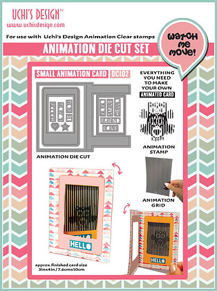 Animation Die Cut  Small Animation Card - DC102