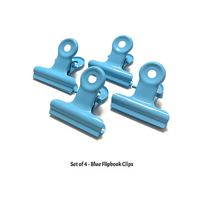 Blue Flipbook Clips - W