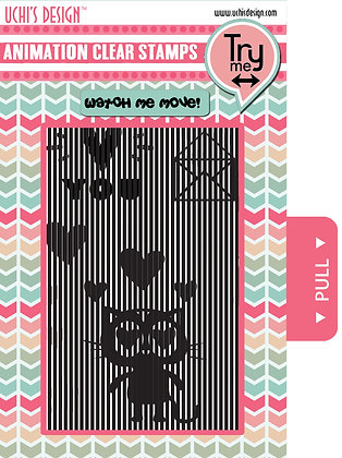 Animation Clear Stamp Set - Loving Cat