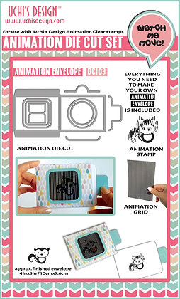 Animation Die Cut  Animation Envelope  DC103