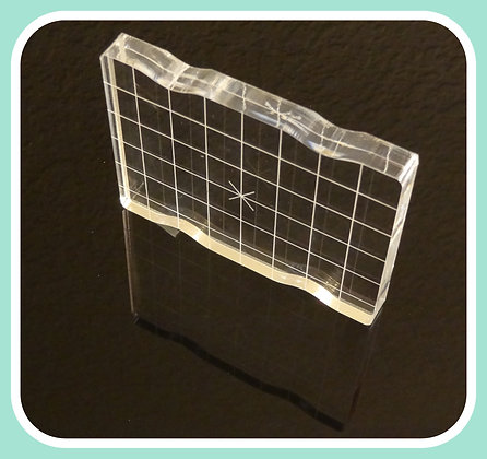 Acrylic Block 3x4 with Grip and Grid