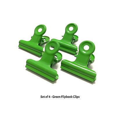 Green Flipbook Clips - W