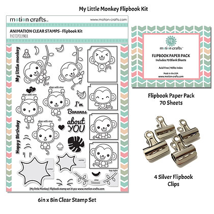 Monkey Flipbook Kit - W
