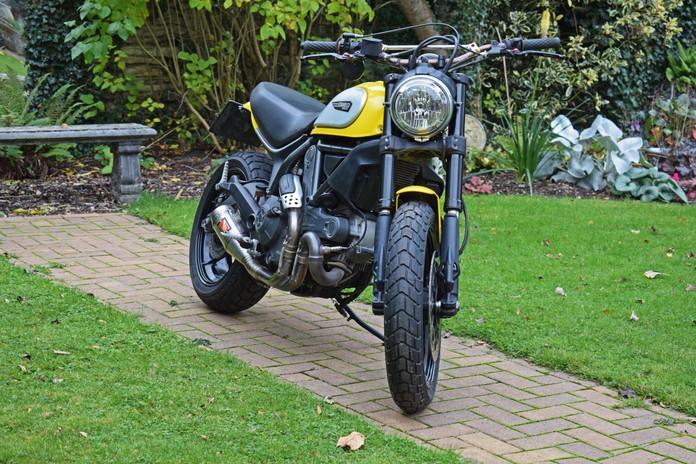 Used Ducati Scrambler for sale northampton bike sanctuary icon yellow front right.jpg
