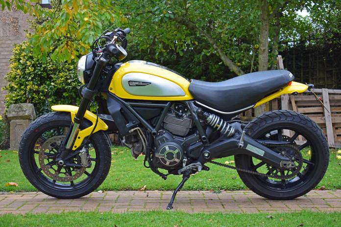 Used Ducati Scrambler for sale northampton bike sanctuary icon yellow left side.jpg