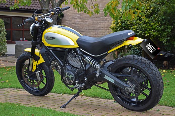 Used Ducati Scrambler for sale northampton bike sanctuary icon yellow left  rear end.jpg
