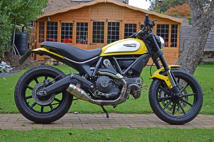 Used Ducati Scrambler for sale northampton bike sanctuary icon yellow right side.jpg