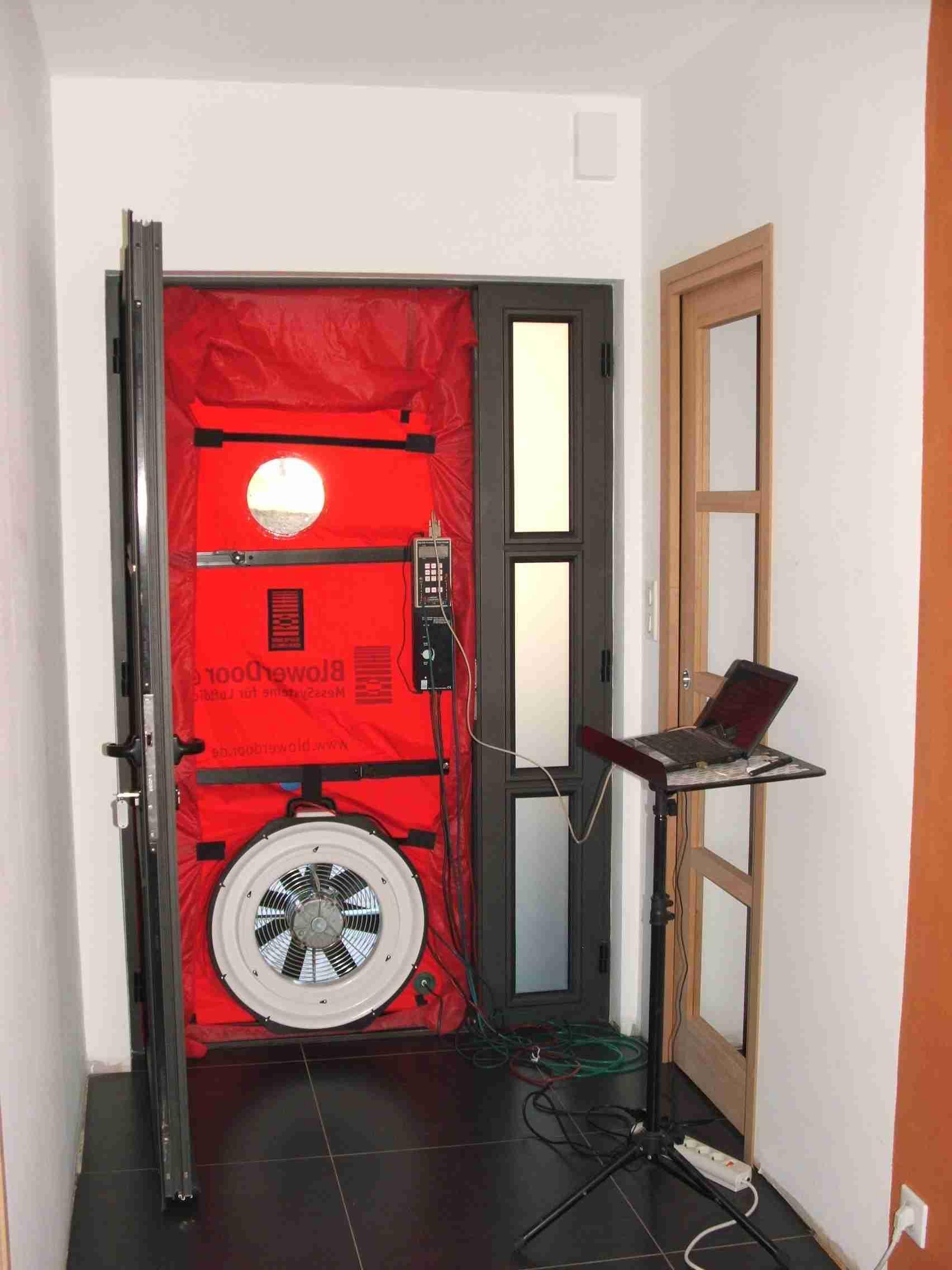 Blower Door - Vue intérieure