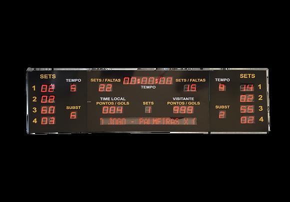 """IND-0122 INDICADOR PLACAR ESPORTIVO 6"""" POLEGADAS COM PMV"""