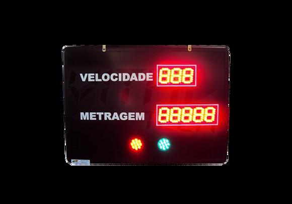 """IND-0192 IDICADOR DE PRDUÇÃO 2,3"""" POLEGADAS COM SINALIZADOR"""
