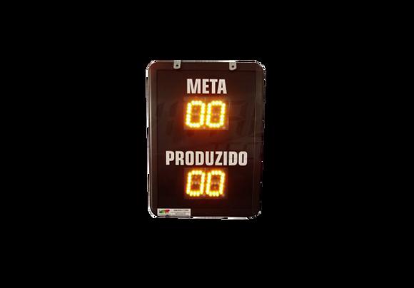 """IND-0317 - INDICADOR DE PRODUÇÃO META E PRODUZIDO 2,3""""POLEGADAS"""