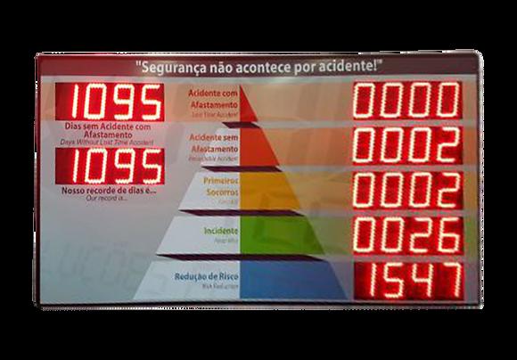 """IND-0223 INDICADOR DE CIPA 6"""" POLEGADAS 7 MÓDULOS"""