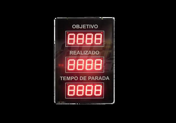 """IND-0100 INDICADOR DE PRODUÇÃO MODBUS 4"""" POLEGADAS"""