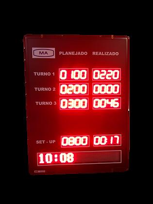 """IND-0377 - INDICADOR DE PRODUÇÃO ANDON 2,3"""" POLEGADAS COM PMV"""