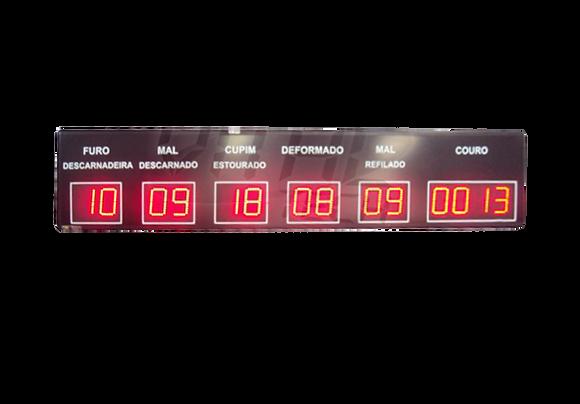 """IND-0053 - INDICADOR DE PRODUÇÃO COUROS 6 CAMPOS 4"""" POLEGADAS"""