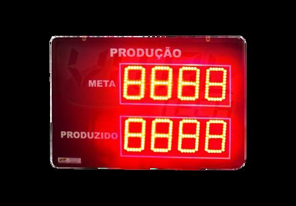 """IND-0249 - INDICADOR DE PRODUÇÃO META E REALIZADO 4"""" POLEGADAS 24 V"""