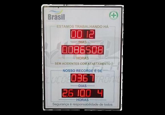 """IND-0038 INDICADOR DE CIPA 4"""" POLEGADAS DIAS E HORAS SEM ACIDENTES"""