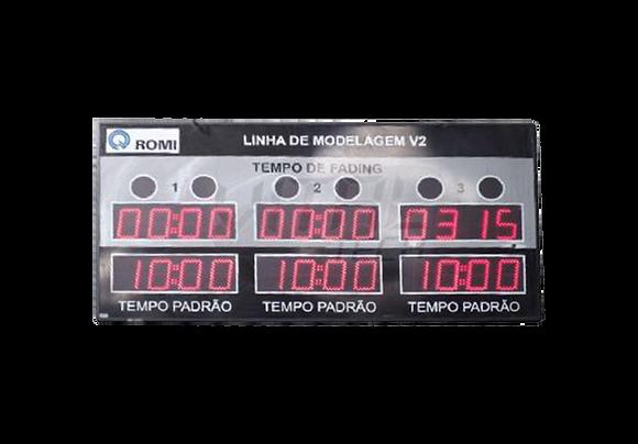 """IND-0326 - INDICADOR CRONÔMETRO 3 MÓDULOS 6"""" POLEGADAS"""