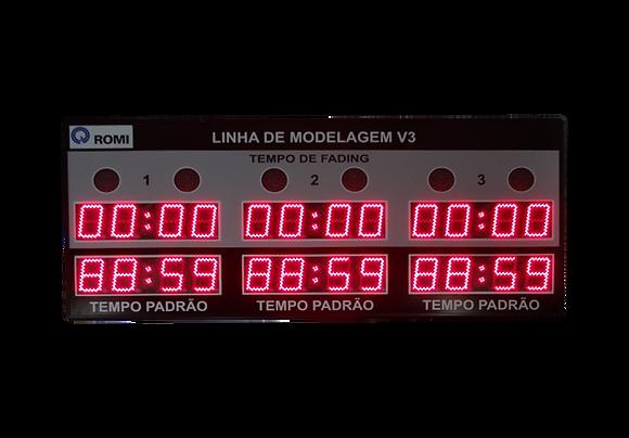"""IND-0326 INDICADOR CRONÔMETRO 6"""" POLEGADAS 6 MÓDULOS"""