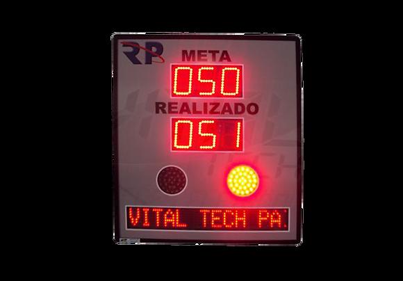 """IND-0232 - INDICADOR DE PRODUÇÃO META, REALIZADO, SINALIZADOR 4"""" POL. COM PMV"""