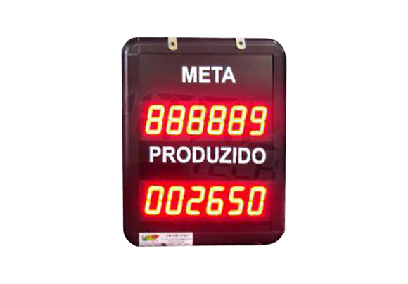 """IND-0308 - INDICADOR DE PRODUÇÃO META E REALIZADO 1,5"""" POLEGADA CONTATO SECO"""