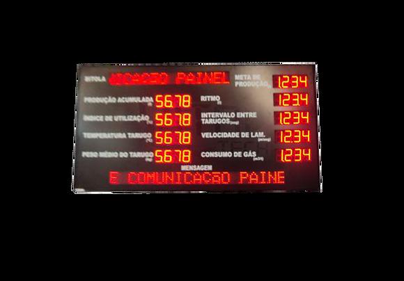 """IND-0147 INDICADOR DE PRODUÇÃO ANDON 4"""" POLEGADAS COM PMV"""