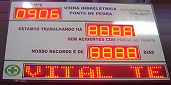 IND-0343 - PAINEL DE CIPA COM RELÓGIO E PMV