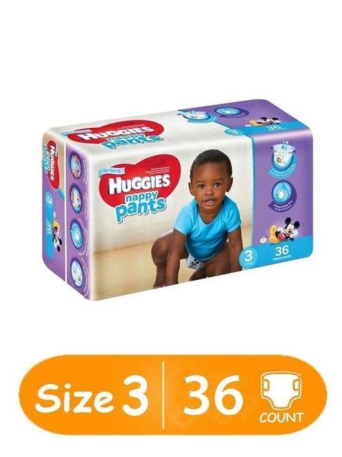 Huggies Pants Boy Size 3 (7-12 Kg) 36S (Old Range)