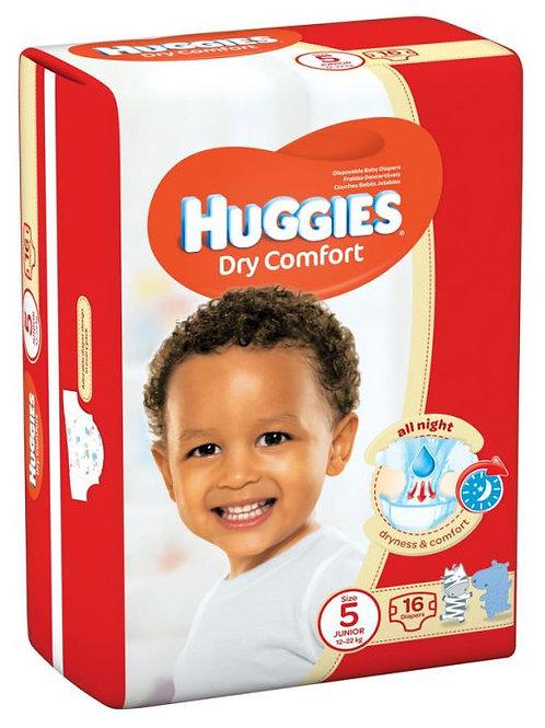 Huggies Dry Comfort (Size 5) 12-22Kgs 16'S