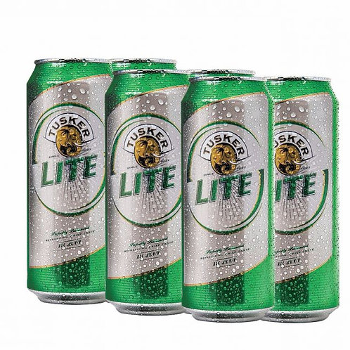 Tusker Lite Can 500ml - 6 Pack