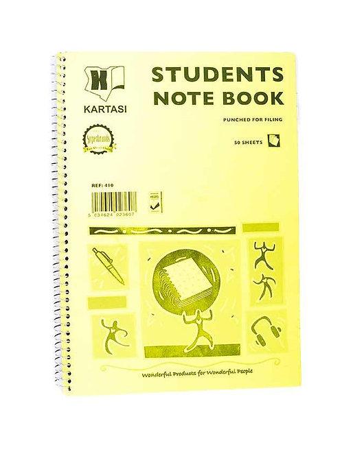 Kartasi Students Note Book
