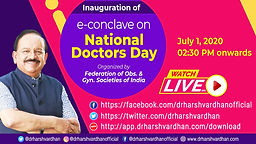 Inauguration of e-conclave on National Doctors Day