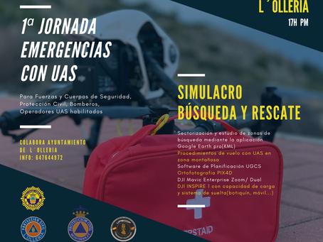 1ª JORNADA EMERGENCIAS CON UAS