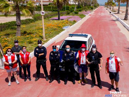 El Puig realiza dos jornadas de vigilancia con drones para demostrar su eficacia policial