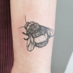 Fuzzy bee ♡ thank you May and happy 18th