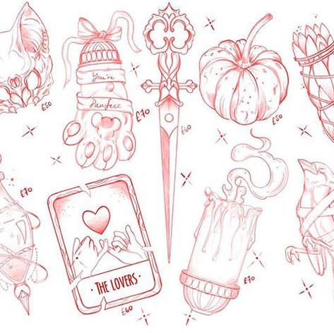Halloween flash sheet! This Thursday 31s