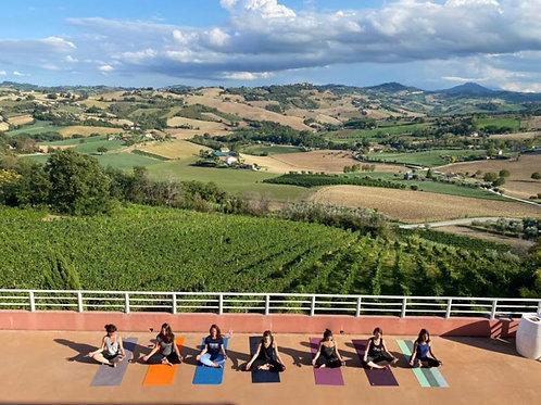 Yoga et découverte des vignes italiennes