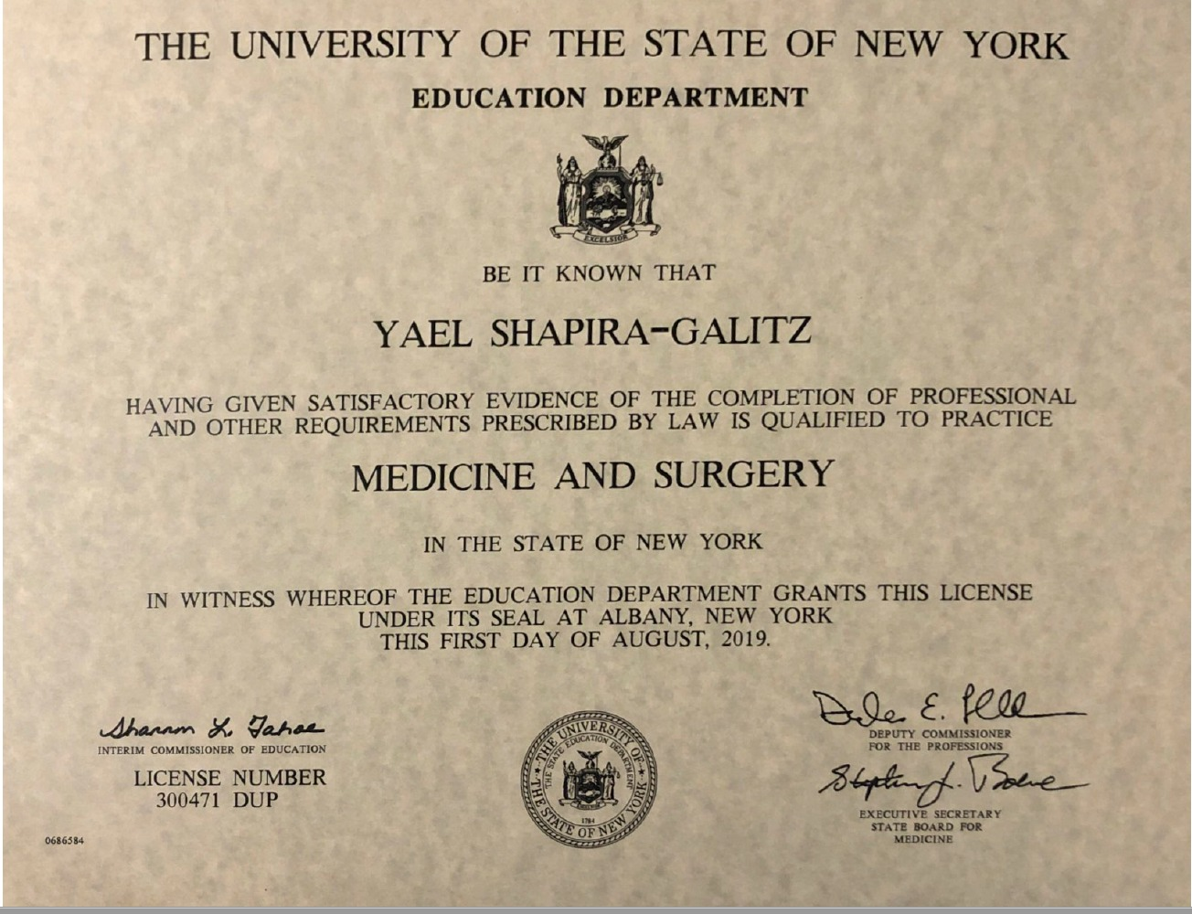 רישיון רפואי ארצות הברית