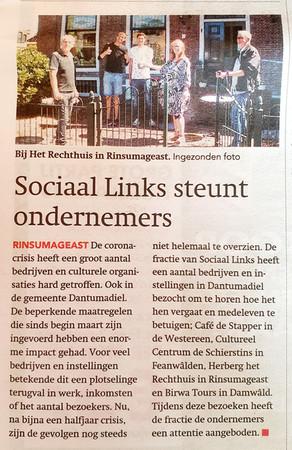 Sociaal Links steunt ondernemers