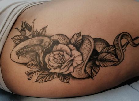 #1140 tatouage serpent | AMERICAN BODY ART