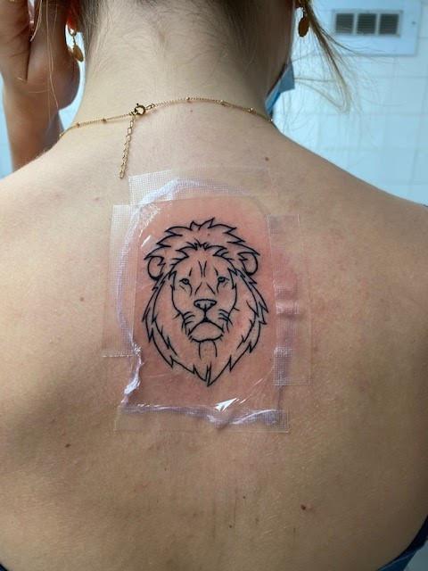 125 Tatouage Lion Magic Circus