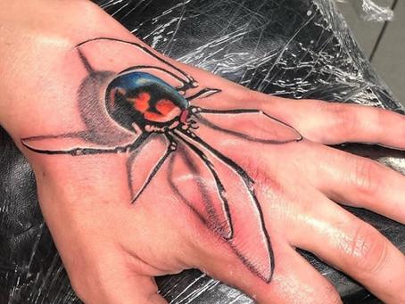 #863 Tatouage araignée American Body Art